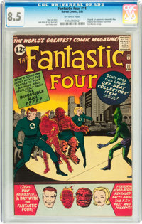 Fantastic Four #11 (Marvel, 1963) CGC VF+ 8.5 Off-white pages