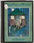 Books:Children's Books, J. M. Barrie. Peter Pan and Wendy. New York: CharlesScribner's Sons, 1930. Illustrated edition. Octavo. viii, 1...
