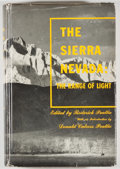 Books:Americana & American History, Roderick Peattie, editor. The Sierra Nevada: The Range ofLight. New York: The Vanguard Press, Inc., [1947]. Fir...