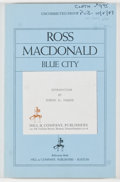 Books:Mystery & Detective Fiction, Ross Macdonald. SIGNED BY PARKER. Blue City. Boston: Hill& Company, n.d. [1987]. Uncorrected proof, advance review ...