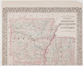 Books:Maps & Atlases, S[amuel] Augustus Mitchell. County Map of Arkansas with Portion of Mississippi. Philadelphia: S. A. Mitchell, 1880. Hand...