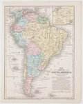 Books:Maps & Atlases, Two Wonderfully Engraved and Hand-Colored Maps of South America & Spain and Portugal. No. 19, South America from M...