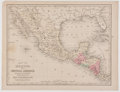 Books:Maps & Atlases, Samuel Augustus Mitchell. Map of Mexico, and Central America from Mitchell's New Intermediate Geography. Philade...