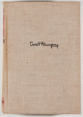 Books:Fiction, Ernest Hemingway. For Whom the Bell Tolls. New York:Scribners, 1940. First edition, first printing. Octavo. 471 pag...