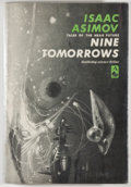 Books:Science Fiction & Fantasy, [Jerry Weist]. Isaac Asimov. Nine Tomorrows. Garden City:Doubleday, 1959. First edition, first printing. Octavo. 23...
