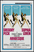 "Movie Posters:Thriller, Arabesque (Universal, 1966). One Sheet (27"" X 41""). Thriller. Starring Gregory Peck, Sophia Loren, Alan Badel and Kieron Moo..."