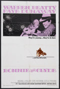 "Movie Posters:Crime, Bonnie and Clyde (Warner Brothers, 1967). One Sheet (27"" X 41"").Crime. Starring Warren Beatty, Faye Dunaway, Michael J. Pol..."