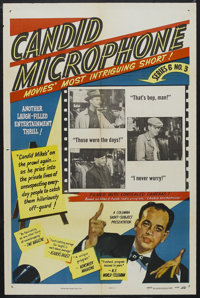 "Candid Microphone: Series 6, Number 3 (Columbia, 1948). One Sheet (27"" X 41""). Comedy Short. Hosted by Allen F..."