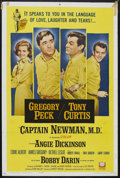 """Movie Posters:War, Captain Newman, M.D. (Universal, 1964). One Sheet (27"""" X 41""""). WarComedy. Starring Gregory Peck, Tony Curtis, Angie Dickins..."""