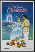 "Movie Posters:Animated, Cinderella (Buena Vista, R-1981). One Sheet (27"" X 41""). Animated.Starring the voices of Ilene Woods, Eleanor Audley, Verna..."