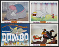 """Movie Posters:Animated, Dumbo (Buena Vista, R-1972). Title Lobby Card (11"""" X 14"""") and Lobby Cards (3) (11"""" X 14""""). Animated Musical. Starring the vo... (Total: 4 Items)"""