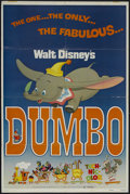 "Movie Posters:Animated, Dumbo (Buena Vista, R-1972). One Sheet (27"" X 41""). Animated. Starring the voices of Sterling Holloway, Edward S. Brophy, He..."