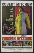 """Movie Posters:Thriller, Foreign Intrigue (United Artists, 1956). One Sheet (27"""" X 41"""").Mystery. Starring Robert Mitchum, Geneviève Page, Ingrid Thu..."""