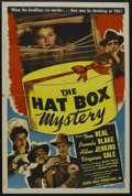 "Movie Posters:Crime, The Hat Box Mystery (Screen Guild Productions, 1947). One Sheet(27"" X 41""). Crime. Starring Tom Neal, Pamela Blake, Allen J..."