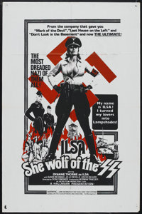 """Ilsa, She Wolf of the SS (Cambist Films, 1975). One Sheet (27"""" X 41""""). Sexploitation. Starring Dyanne Thorne..."""