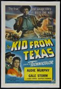 """Movie Posters:Western, The Kid from Texas (Universal International, 1949). One Sheet (27"""" X 41""""). Western. Starring Audie Murphy, Gale Storm, Alber..."""