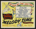 "Movie Posters:Animated, Melody Time (RKO, 1948). Title Lobby Card (11"" X 14""). AnimatedMusical. Starring the voices of Roy Rogers, Dennis Day, the ..."