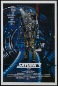"Movie Posters:Science Fiction, Saturn 3 (Associated Film, 1980). One Sheet (27"" X 41""). Sci-Fi. Starring Farrah Fawcett, Kirk Douglas, Harvey Keitel, Ed Bi..."