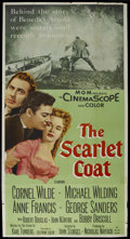 "Movie Posters:Adventure, The Scarlet Coat (MGM, 1955). Three Sheet (41"" X 81""). Adventure.Starring Cornel Wilde, Michael Wilding, George Sanders, An..."