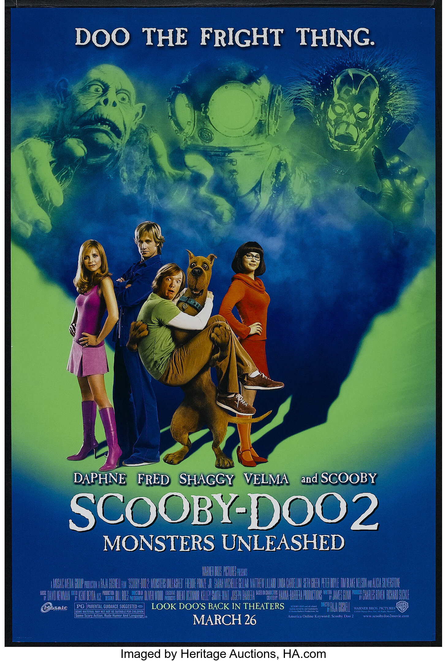 Scooby Doo 2 Monsters Unleashed Warner Brothers 2004 One Lot 26218 Heritage Auctions
