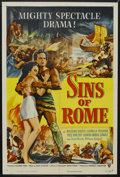 "Movie Posters:Adventure, Sins of Rome (RKO, 1954). One Sheet (27"" X 41""). Adventure.Starring Massimo Girotti, Ludmilla Tcherina, Yves Vincent and Gi..."