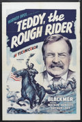 "Movie Posters:Short Subject, Teddy the Rough Rider (Warner Brothers, R-1948). One Sheet (27"" X41""). Drama. Starring Sidney Blackmer, Pierre Watkin, Theo..."
