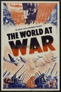 """Movie Posters:Documentary, The World at War (War Activities Committee, 1942). One Sheet (27"""" X 41""""). Documentary. Narrated by Paul Stewart. Written by ..."""