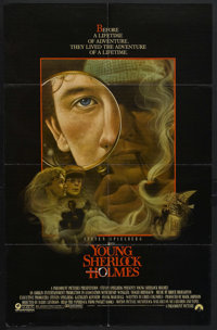 "Young Sherlock Holmes (Paramount, 1985). One Sheet (27"" X 41""). Mystery. Starring Nicolas Rowe, Alan Cox, Soph..."