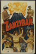 "Movie Posters:Adventure, Zanzibar (Realart, R-1940s). One Sheet (27"" X 41""). Adventure.Starring Lola Lane, James Craig, Eduardo Ciannelli, Tom Fadde..."