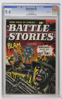 Battle Stories #9 Crowley Copy pedigree (Fawcett, 1953) CGC NM 9.4 Off-white pages