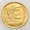 Ancients:Roman Imperial, Ancients: Magnentius (AD 350-353). AV solidus (4.62 gm). ...