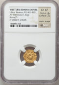 Ancients:Roman Imperial, Ancients: Libius Severus III (AD 461-465). AV tremissis (1.43 gm). ...