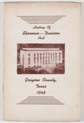 Books:Americana & American History, [Grayson County]. Ed. H. Anderson, compiler. History andBusiness Guide of Sherman, Denison, and Grayson County, Texas....