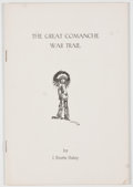 Books:Signed Editions, J. Evetts Haley. SIGNED. The Great Comanche War Trail. [Canyon, Texas: 1950]. Reprinted from The Panhandle-Plain...