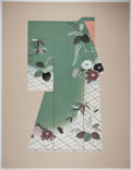 Books:Prints & Leaves, Lovely Print of Japanese Kimono. [n. d.] Measures 34 x 26 inches.Print is a restrike. Linen border. Near fine....
