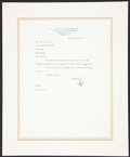 "Autographs:Artists, C. Paul Jennewein Typed Letter Signed ""Paul.""..."