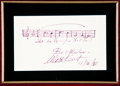 Autographs:Celebrities, Walter Kent Autograph Music Quote Signed....