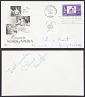 """Autographs:Celebrities, Chris Evert First Day Cover Signed """"Chris Evert"""" with signedcard...."""