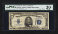 Small Size:Silver Certificates, Fr. 1653* $5 1934C Narrow Silver Certificate. PMG Very Fine 30.. ...