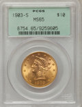 Liberty Eagles, 1903-S $10 MS65 PCGS....