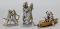 Bronze:European, THREE AUSTRIAN COLD-PAINTED BRONZE FIGURES: CATS COURTING .Circa 1900. 2-1/2 inches high (6.4 cm) (tallest)... (Total: 3Items)