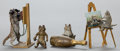 Bronze:European, FOUR AUSTRIAN COLD-PAINTED BRONZE FIGURES: CATS. Circa 1900.2-7/8 inches high (7.4 cm) (tallest). ... (Total: 4 Items)