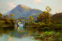 ALFRED FONTVILLE DE BREANSKI, JR. (British, 1877-1957) The Brickeen Bridge, Killarney Oil on canvas