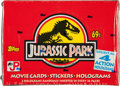 Memorabilia:Trading Cards, Jurassic Park Movie Trading Cards Unopened Wax Box (Topps,1992)....