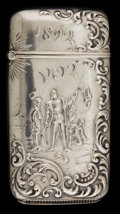 Silver Smalls:Match Safes, A FRADLEY & CO. SILVER AND SILVER GILT COLUMBIAN EXPOSITIONMATCH SAFE . J.F. Fradley & Co., New York, New York, circa1892...