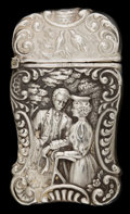 Silver Smalls:Match Safes, AN AMERICAN SILVER MATCH SAFE . Maker unknown, American, circa1890. Marks: STERLING. 2-1/2 inches high (6.4 cm). 0.6 ou...