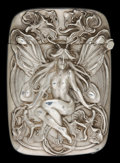 Silver Smalls:Match Safes, A KERR SILVER AND SILVER GILT MATCH SAFE . Wm. B. Kerr & Co,Newark, New Jersey, circa 1900. Marks: (fasces), STERLING,11...