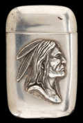 Silver Smalls:Match Safes, AN AMERICAN SILVER MATCH SAFE. Maker unknown, American, circa 1900.Marks: STERLING. 2-1/2 inches high (6.4 cm). 1.1 oun...
