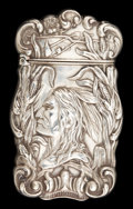 Silver Smalls:Match Safes, AN AMERICAN SILVER MATCH SAFE. Maker unknown, American, circa 1900.Marks: STERLING. 2-5/8 inches high (6.7 cm). .80 oun...
