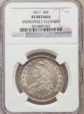 Bust Half Dollars: , 1817 50C -- Improperly Cleaned -- NGC Details. XF. NGC Census:(26/289). PCGS Population (60/337). Mintage: 1,215,567. Numi...
